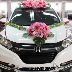 Fresh Flower Bridal Car Decoration Fresh Flower On Wedding Car