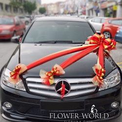 Wedding Car Decorations Bridal Car Decoration Satin And Organza