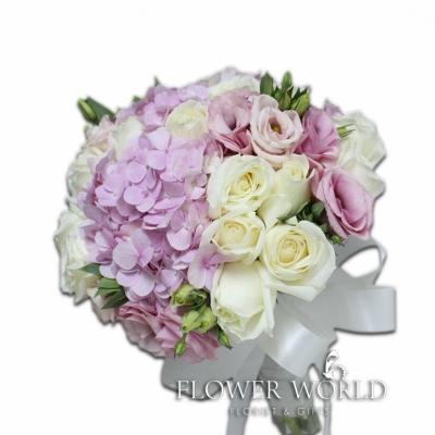 Hydrangea, Roses and Eustomas Bouquet
