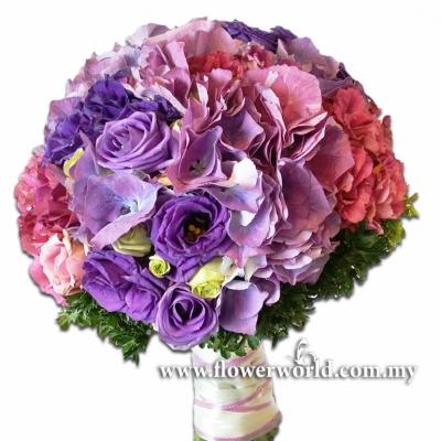 Hydrangea and Eustomas Bouquet