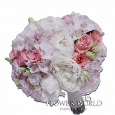 Peonies, Hydrangea and Roses Bridal Bouquet