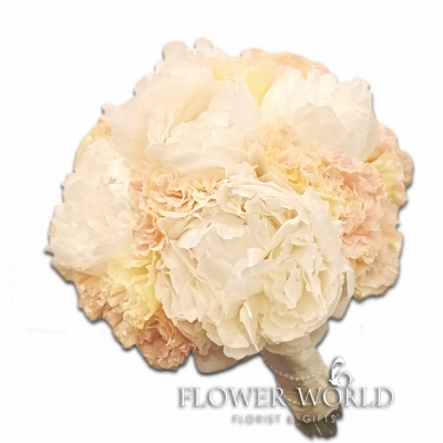 Peonies and Eustomas Bridal Bouquet