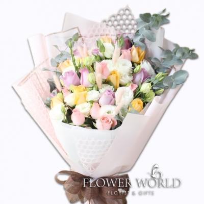 24 Rose & Eustoma Bouquet