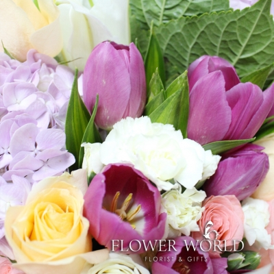 Hydrangea, Tulips, Lilies and Roses