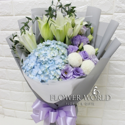 Lilies and Hydrangea Bouquet