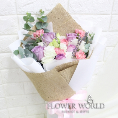 Roses, Carnations & Eustoma  Bouquet