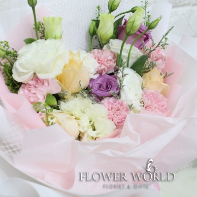 Rose, Carnations & Eustoma Bouquet