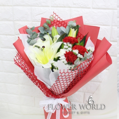 Lily & Carnation Bouquet