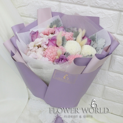 Hydrangea, Rose and Carnation Bouquet